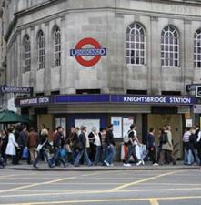 Londen-Knightsbridge-Station