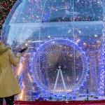 Grootste sneeuwbol ter wereld in Londen