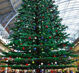 Kerstboom St Pancras International Londen